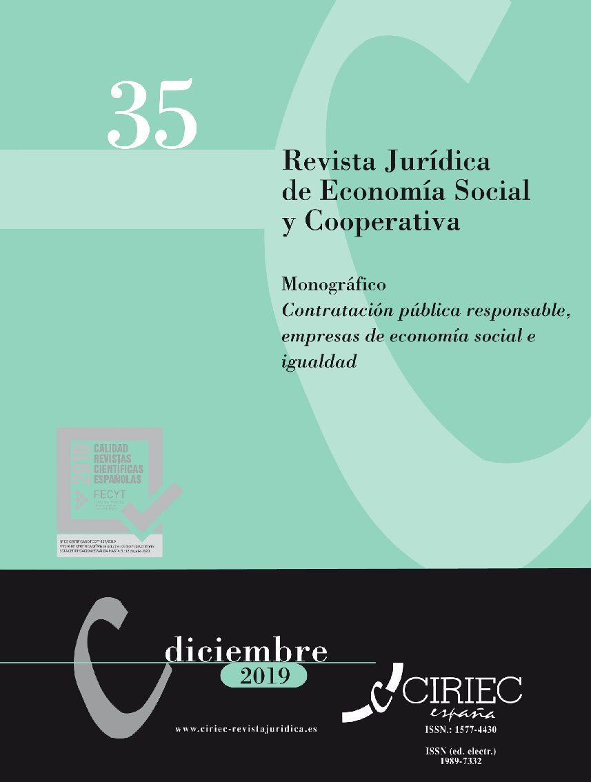 MONOGRÁFICO 35 REVISTA CIRIEC-España: Contratación pública responsable, empresas de economía social e igualdad